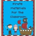 If you have a pirate theme for your class room, or would like to, this product will be a great start.  In this packet, you will find: *4 passes (Bo...