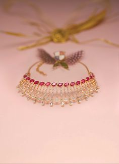 Gold Jewelry Design In India Refferal: 2470868358 India Jewelry, Gold Jewelry, Jewelery, Gold Necklace, Diamond Necklaces, Diamond Jewellery, Diamond Choker, Temple Jewellery, Gold Bangles