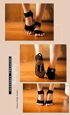 Hot yoga sport Non silp Premium Excercise Ballet Barre,Pilates,Socks Black