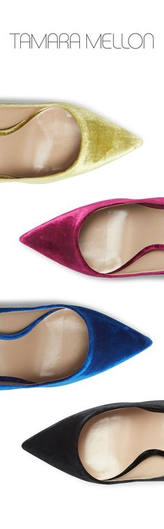 Made in Italy, our exclusive velvet pump capsule collection is made from the highest quality materials. Free shipping & returns at tamaramellon.com.