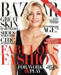 Kate Hudson Hair  posed for Harper's Bazaar.