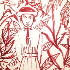 It's like a jungle sometimes. By Marjolein Schalk. #sketch #sketchbook #jungle #illustratie #illustration