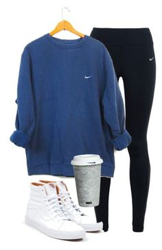 This is pretty close to my go to work out style. Leggings and big baggy sweatshirts. (Papa's... =)