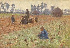 Het Verzamelen van Graan. Emile Claus