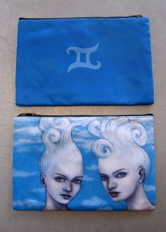 Gemini bag - cute clutch or makeup bag.