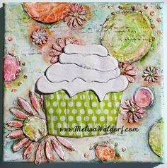 Paperlicious Designs: Project - Altered Canvas