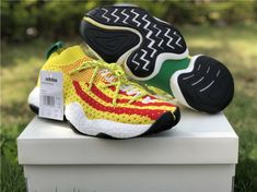dde1faf8018dd5 2018 Pharrell X Adidas Crazy Byw Yellow Red And Green Super Deals