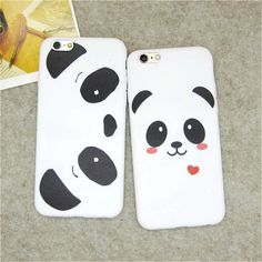Hot Sale Cute Cartoon Panda Bear Soft TPU Back Covers for IPhone 5 5s SE 6 6s Funny Ultra Thin Silicone Phone Case Shell Skin