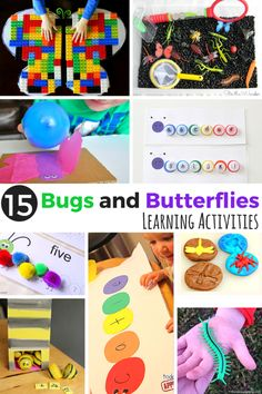 15 Bugs and Butterflies Learning Activities. Literacy, math, science and sensory activities with an insect theme.