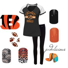 """""""Bengals"""" by jadalicious on Polyvore #jamberry"""