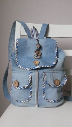 Diy bags 578149670894948376 - Best sewing bags backpack handbags Ideas Source by Denim Backpack, Denim Bag, Backpack Bags, Diy Bags Purses, Diy Purse, Denim Handbags, Denim Crafts, Recycled Denim, Patchwork Bags
