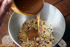 Trail Mix Granola Bars Recipe - Skinny Not Skinny