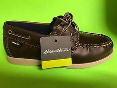 hot sale online e758f 806ac NEW Boy s Eddie Bauer Holden Boat Shoes Brown Size 5 NWOB BIN 6   eBay