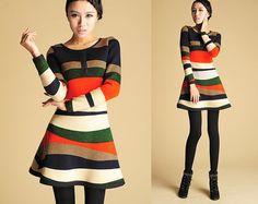 Mini dress winter warm blouse 423 by xiaolizi on Etsy, $109.00