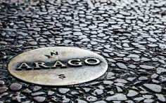 135 unassuming bronze Arago medallions-denote the traditional Paris Meridian Time