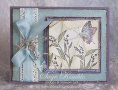 Here's the Soft & Vintage version of the May 2012 project, using Stampin' Up!'s Nature Walk stamp set. Handmade cards and 3-D projects at www.stampingmadly.com