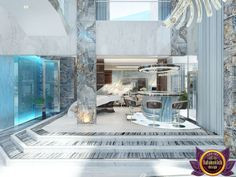 Luxury interior design projects in Dubai UAE Interior Design Companies, Luxury Interior Design, Best Interior, Modern Interior, Interior Architecture, Palm Jumeirah, Furniture Design, Villa, Dining Table