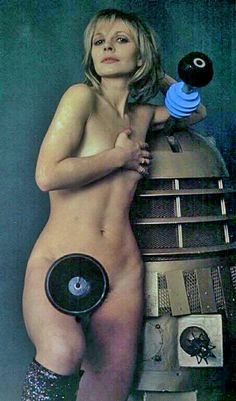 Naked Katy Manning and a dalek. This may be the most tacky photo associated with Doctor Who that I have seen.