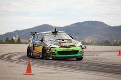 Stephan Verdier testing for the 2012 Global RallyCross in the Motorcity Car by Rhys Millen.