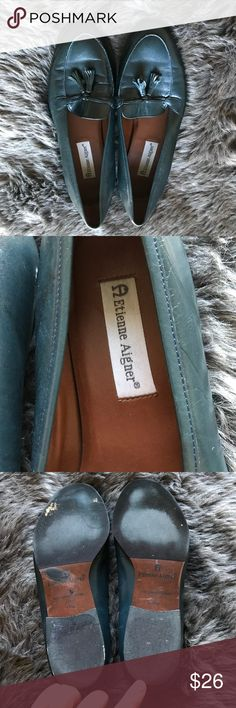 Etienne Aigner Blue Leather Loafers These leather loafers are such a sturdy, great quality shoe. Etienne Aigner Shoes Flats & Loafers