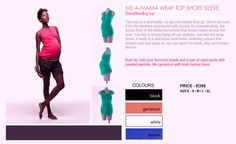Coco Wrap Top R399 - Click on image to show all info Stylish Maternity, Get One, Breastfeeding, Neckline, Image, Clothes, Tops, Breast Feeding, Tall Clothing