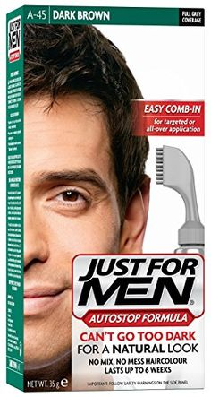Just for Men Jet Black Autostop Hair Colour * Click image for more details. (This is an affiliate link) Hair Color Cream, Men Hair Color, Hair Color Dark, Dark Hair, Blonde Guys, Dark Blonde, Professional Hair Color, Just For Men, Strong Hair