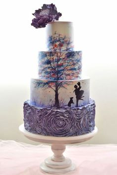 18 Eye-Catching Unique Wedding Cakes :heart: See more: http://www.weddingforward.com/unique-wedding-cakes/ #weddings #cakes