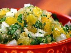 Pico de Gallo with yellow tomatoes  from FoodNetwork.com   Marcela Valladolid