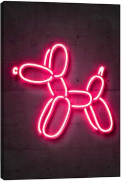 Balloon Dog Art Neon Art Nursery Art Street Art Graffiti Art Home Décor Neon Print Balloon Art Animal Art Dog print Dog Décor Kids Room Wall - - Street Art Graffiti, Graffiti Kunst, Balloon Dog, Neon Rosa, Modelos 3d, Printed Balloons, Dog Poster, Neon Aesthetic, Neon Wallpaper