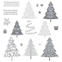 Peaceful Pines Photopolymer Stamp Set by Stampin' Up! Price: $26.00