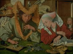 File:The Tax Collector and His Wife by Marinus van Reymerswale - Statens Museum for Kunst - Medieval Books, Medieval Art, Denmark Travel, Art Painting Gallery, Modern Sculpture, African Art, Art Reproductions, Picture Frames, The Incredibles