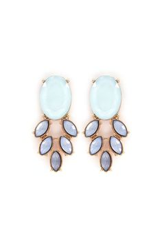 Grace Earrings in Aspen Blue//