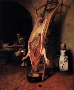 Barent Fabritius-The Slaughterent Pig