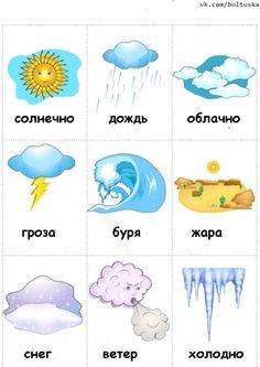 weather flashcards: How is the weather? How was the weather? How will the weather be (next week)? How has the weather been (since last week)? Learning English For Kids, English Lessons For Kids, Kids English, Learn English Words, English Language Learning, English Study, English Grammar, Teaching English, Russian Language