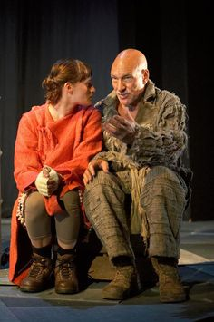 Patrick Stewart as Prospero and Mariah Gale as Miranda in the RSC's 2006 production of The Tempest.