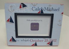 JoJo Nautical Frame by RibbonMade on Etsy, $25.00