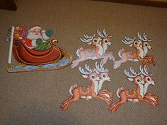 5 Vintage Christmas The Beistle Co. 1978 Paper Decorations