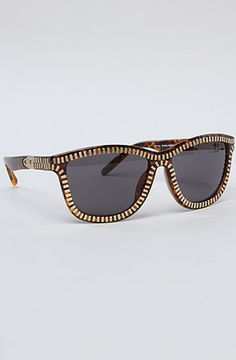 0592c9cdd6 Alexander Wang The Zipper Sunglasses in Tortoise Shell Acetate framed sunglasses  with nickel zipper motif trim and zipper pull detail at temples  ...