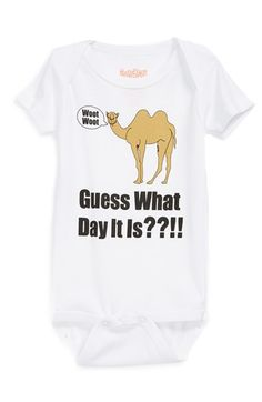 Sara Kety Baby & Kids 'Hump Day' Bodysuit (Baby) | Nordstrom