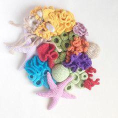 Baby Door Ornament with Removable Amigurumi Toys / handmade /