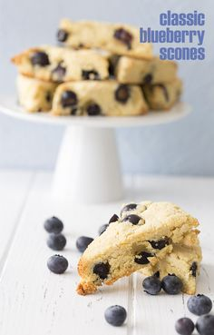 Classic blueberry scones go low carb and gluten-free. They have the perfect dry crumbly scone consistency. The best sugar-free scones you'll ever make! This post is sponsored by Bob's R…