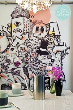 graffiti mural in the kitchen? yes!