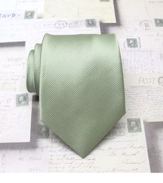 Would need to investigate deliv costs from US  Mens Tie Neck Tie. Pale Olive Green Stripes Mens by TieObsessed