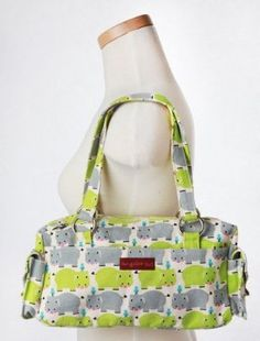 Bungalow360 Hippo Vegan Satchel Bag