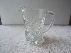 """Vintage Glass Creamer Pitcher With Designs """" BEAUTIFUL COLLECTIBLE ITEM """" #vintage #collectibles #kitchen #home"""