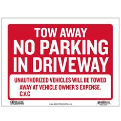 tow away sign Durable plastic, weatherproof Bright and highly visible 9 inch x 12 inch for rent sign