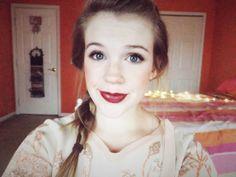 Lydia from Grins & Needles. #Autumn #makeup #Fall #plum #lipstick #beauty