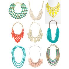 Chunky Necklaces, created by sallytucker on Polyvore