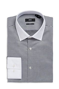spread collar jonne dress shirt by boss black - Smoking Hugo Boss Mariage