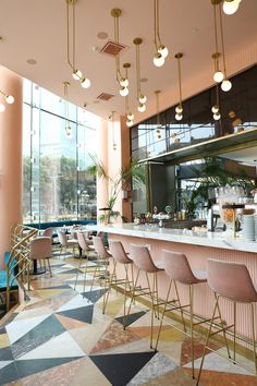 Pink and Marble Enliven this Restaurant Interior Design in Tel Aviv interior design Pink and Marble Enliven this Restaurant Interior Design in Tel Aviv pink restaurant inspiration 3